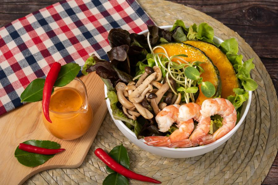 Creamy Tom Yum Koong Salad